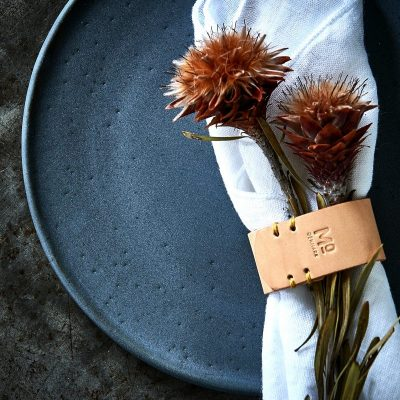Napkin ring made in sustainable leather