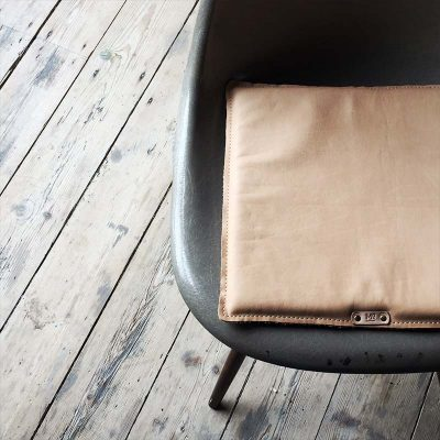 sustainability leather items cushion