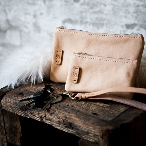 sustainability leather items keyhanger pouches