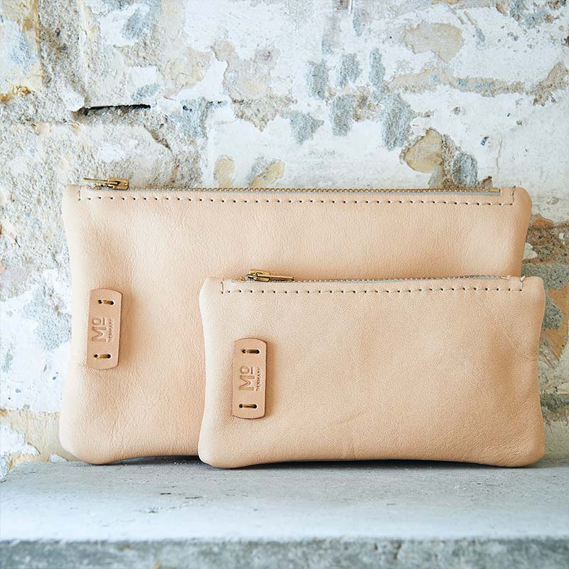 sustainability leather items pouches