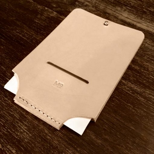 Reciept pocket made in sustainable leather