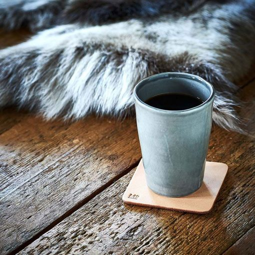 Coaster made in sustainable leather