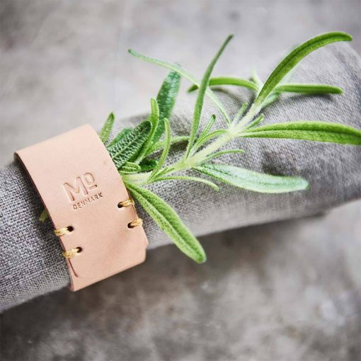 Napkin ring in sustainable leather